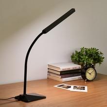 Современные LED eye-защитной Настольная Лампа Офис Исследование Спальня Ночники Настольная Лампа Сенсорный Диммер Свет Стол с Регулируемым Гусиная Шея