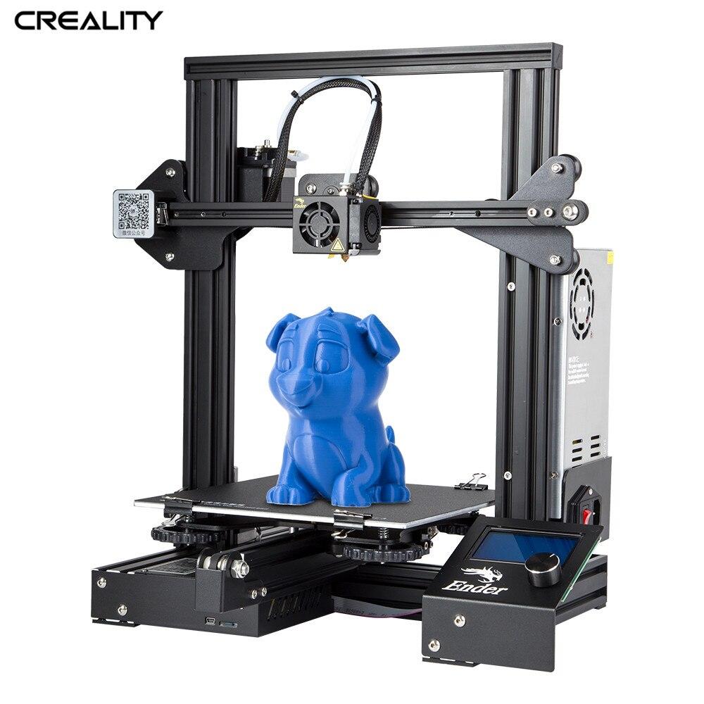 Creality 3D Ender-3/Ender-3X ouvert construire imprimante construire Surface plate-forme mise hors tension cv imprimer 220*220*250 MM