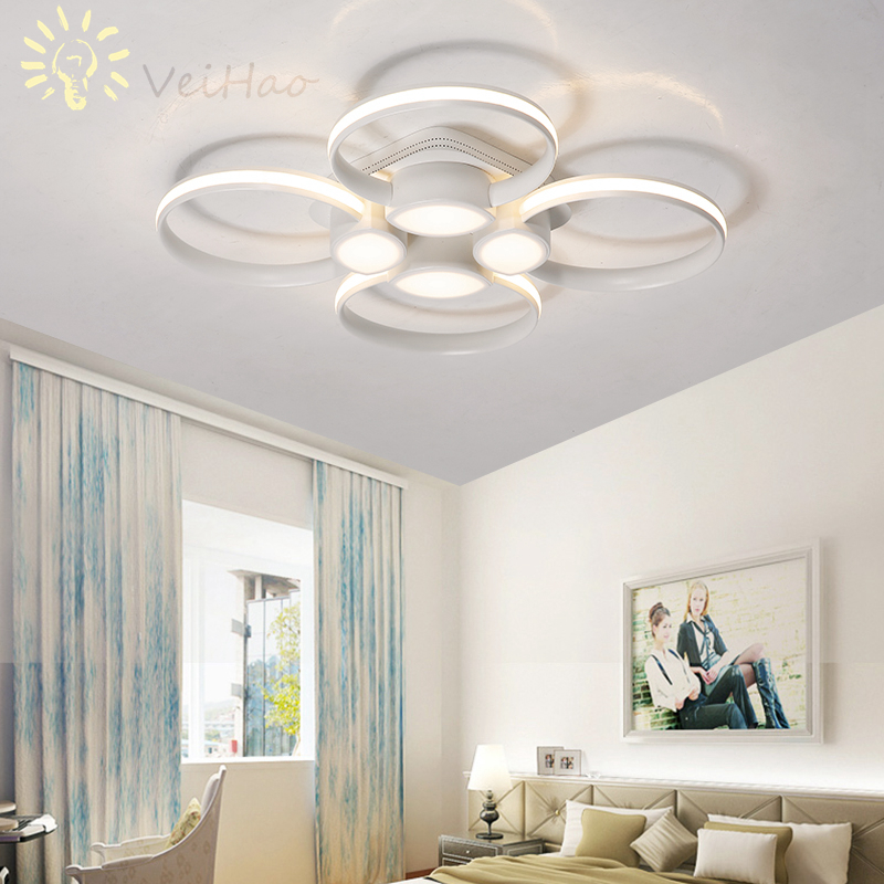 Remote Control Modern led Ceiling Lights  For Living room Bedroom Study room Ceiling Lamp Acrylic Home Deco Lighting Fixture modern remote control led lamp ceiling light fixture living room bedroom christmas decoration for home lighting white metal 220v