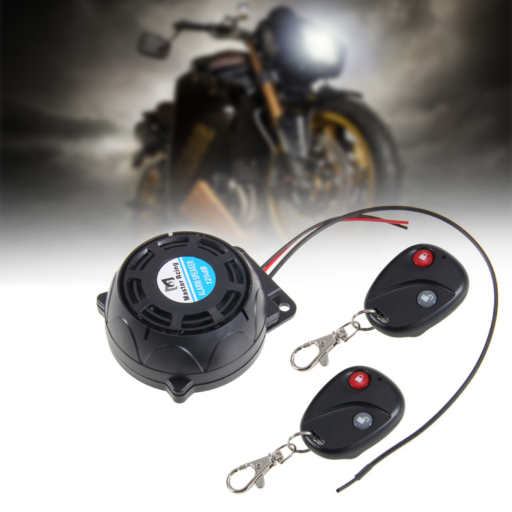 Carchet Motorcycle Alarm 2 Remote Controls Anti Theft Security System Vibration Lock Burglar Dual Control Sensor In Protection From
