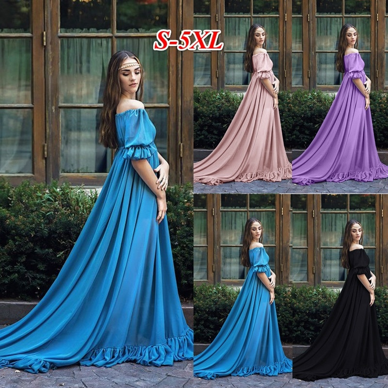 4 Colos Women Fashion Medieval Long Dress Witchy Gothic Short Sleeve Off Shoulder Dress Female Cosplay Costume Maxi Dress