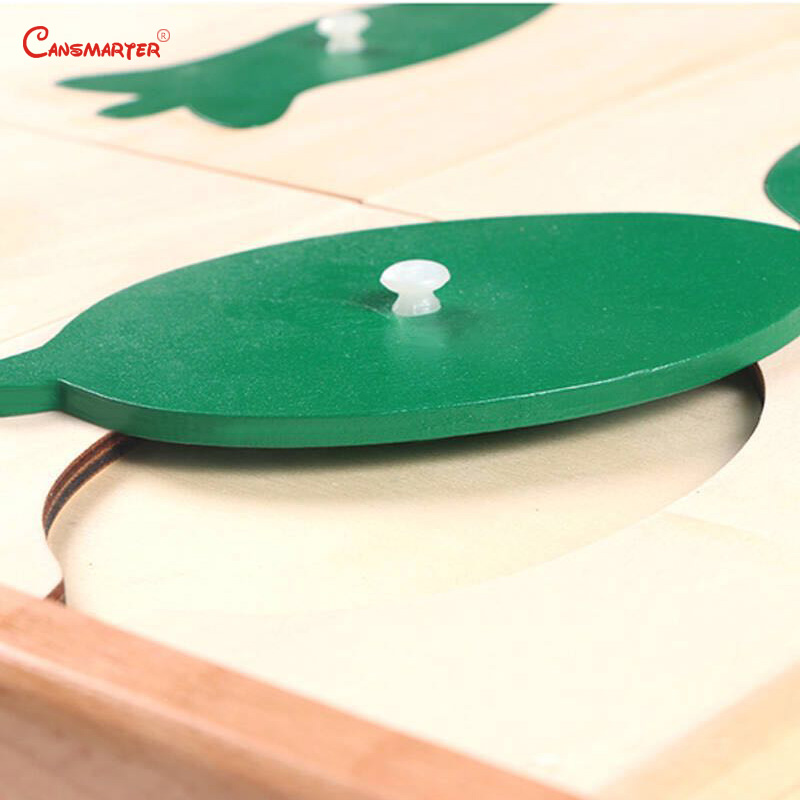 Botany Leaf Cabinet Puzzles Wooden Box Montessori Biological Teaching Toys Education Early Kids Preschool Materials - 6