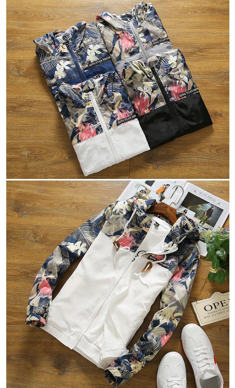HTB1OmtalsuYBuNkSmRyq6AA3pXad Women's Hooded Jackets 2018 Autumn Causal Flowers Windbreaker Women Basic Jackets Coats Zipper Lightweight Jackets Bomber Famale