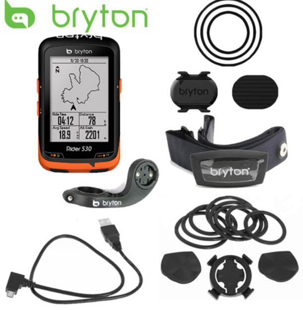 Nouveau Bryton Rider 530 GPS Vélo Vélo Vélo Ordinateur et Mount Extension ANT + Vitesse Cadence Double Capteur de Fréquence Cardiaque moniteur