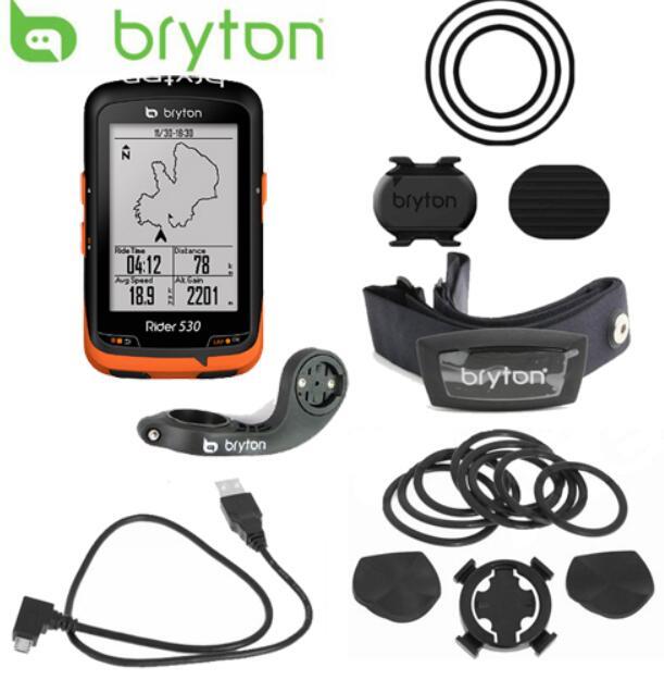 Nouveau Bryton Rider 530 GPS Vélo Vélo Vélo Ordinateur et Mount Extension ANT + Vitesse Cadence Double Capteur moniteur de fréquence cardiaque
