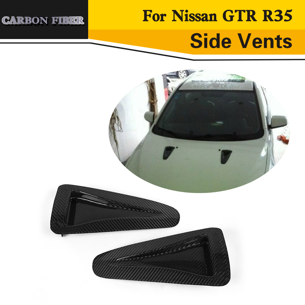 Carbon Fiber Air Inlet Instake Auto Car styling Side Vents For Nissan GTR R35 2012 2013