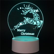 The Christmas colorful 3D Light touch lights LED 7 colors Xmas present Night lamp remote control lighting gifts christmas tree