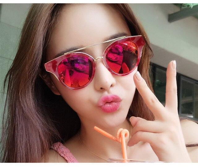 Todays Offers New High Fashion Brand Vintage Pink Mirror Sunglasses Women  Shades Round Glasses Men Oculos feminino de sol UV400 9a99cc4581