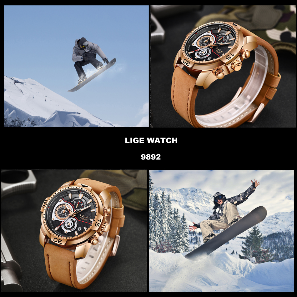 HTB1Omu.X6DuK1Rjy1zjq6zraFXa6 LIGE Mens Watches Top Brand Luxury Casual Leather Quartz Clock Male Sport Waterproof Watch Gold Watch Men Relogio Masculino