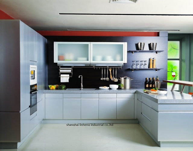 melamine/mfc kitchen cabinets(LH ME067)-in Kitchen Cabinets from ...