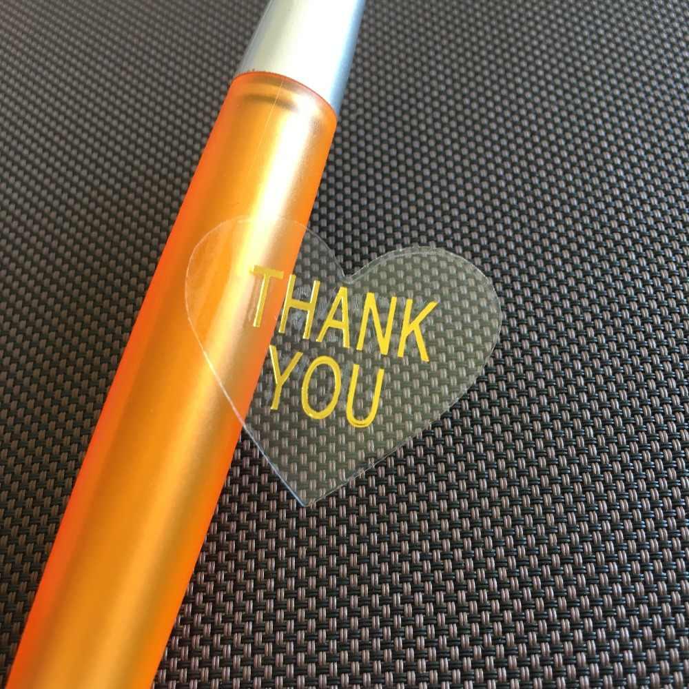 60 cái Trong Suốt Không Thấm Nước PVC Hộp Quà Tặng Niêm Phong Dán TỰ LÀM Handmade Đảng Đám Cưới Đóng Gói Tự dính Nhãn sticker
