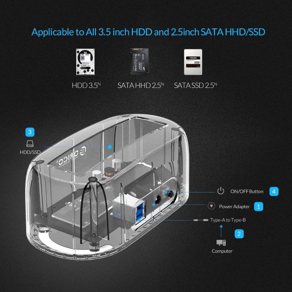 ՕՐԻԿՈ թափանցիկ 2.5 / 3.5 դյույմ սաթսա USB - Արտաքին պահեստավորման սարքեր - Լուսանկար 6