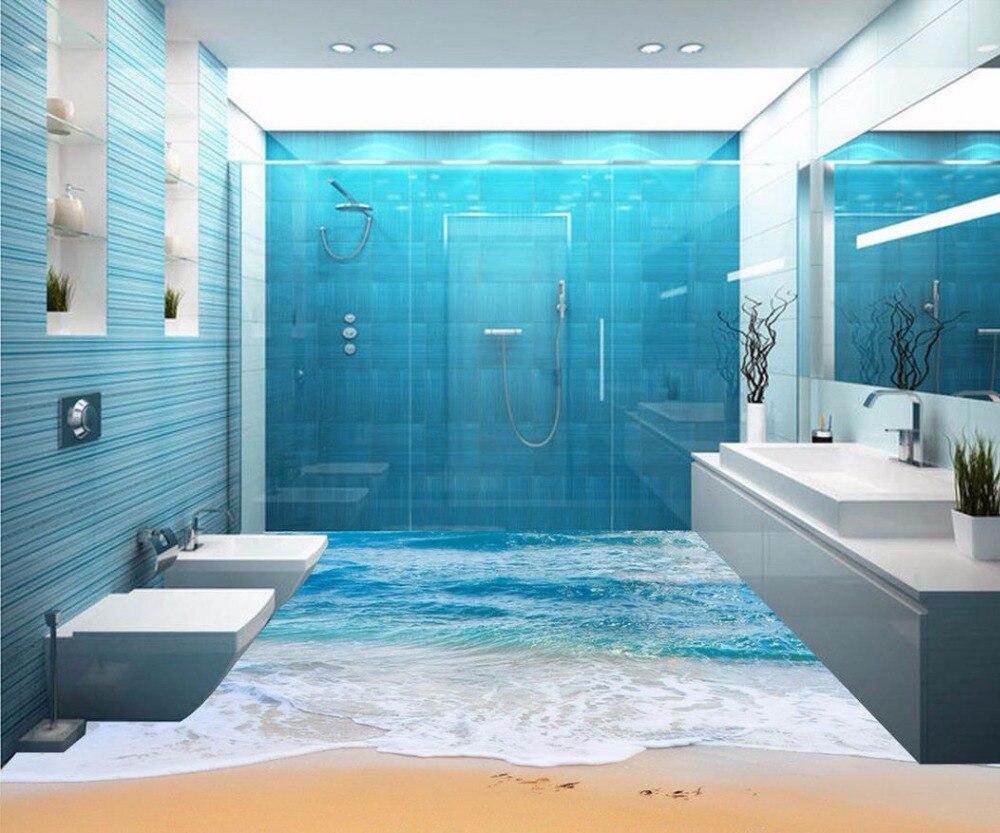 3d floor painting wallpaper 3D sea beach bathroom floor murals 3d ...