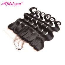 Mslynn Hair 13x4 Pre Plucked lace Frontal With Baby Hair Brazilian Body Wave Closure Free Part