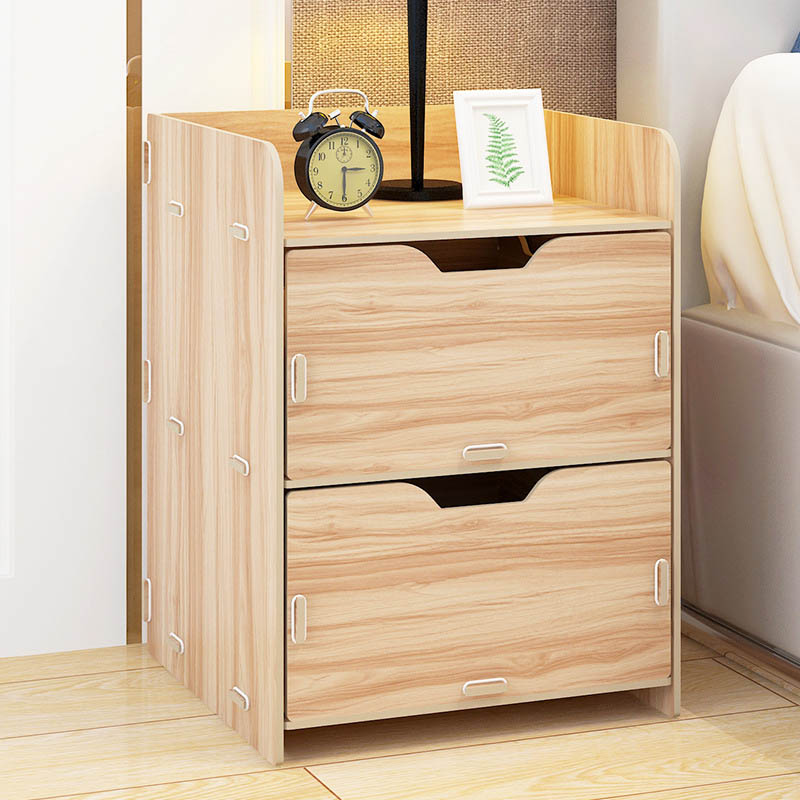 Simple Composite Press Board Nightstand Economic type Bedroom storage cabinet Small bedside storage cabinet Home Furniture