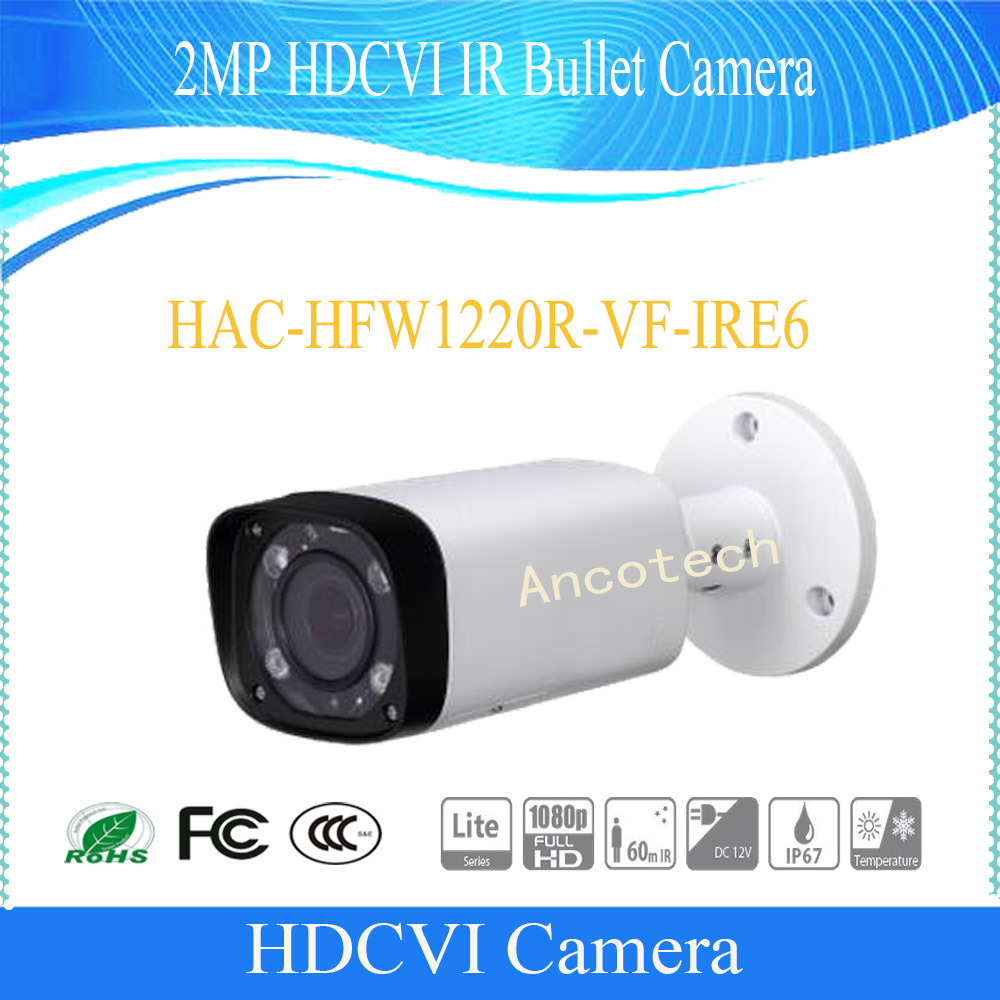 Free Shipping DAHUA CCTV Outdoor Camera 2MP HDCVI IR Bullet Camera IP67 Without Logo HAC-HFW1220R-VF-IRE6 free shipping dahua cctv outdoor camera 2mp hdcvi ir bullet camera ip67 without logo hac hfw1220r vf ire6