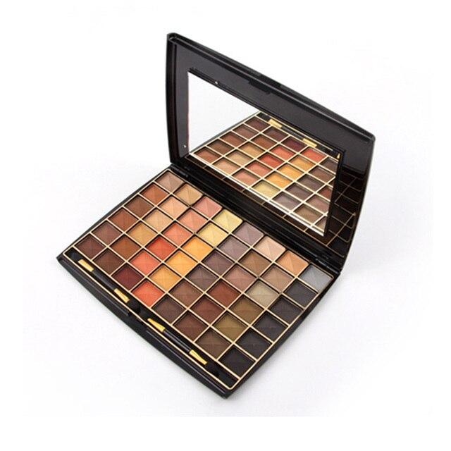 2017 Moda Primavera 48 Cores 3D Fosco Sombra Paleta Kit de Maquiagem Paleta de Maquiagem Sombra de Olho Molhado Das Mulheres Lady Cosméticos Maquiagens