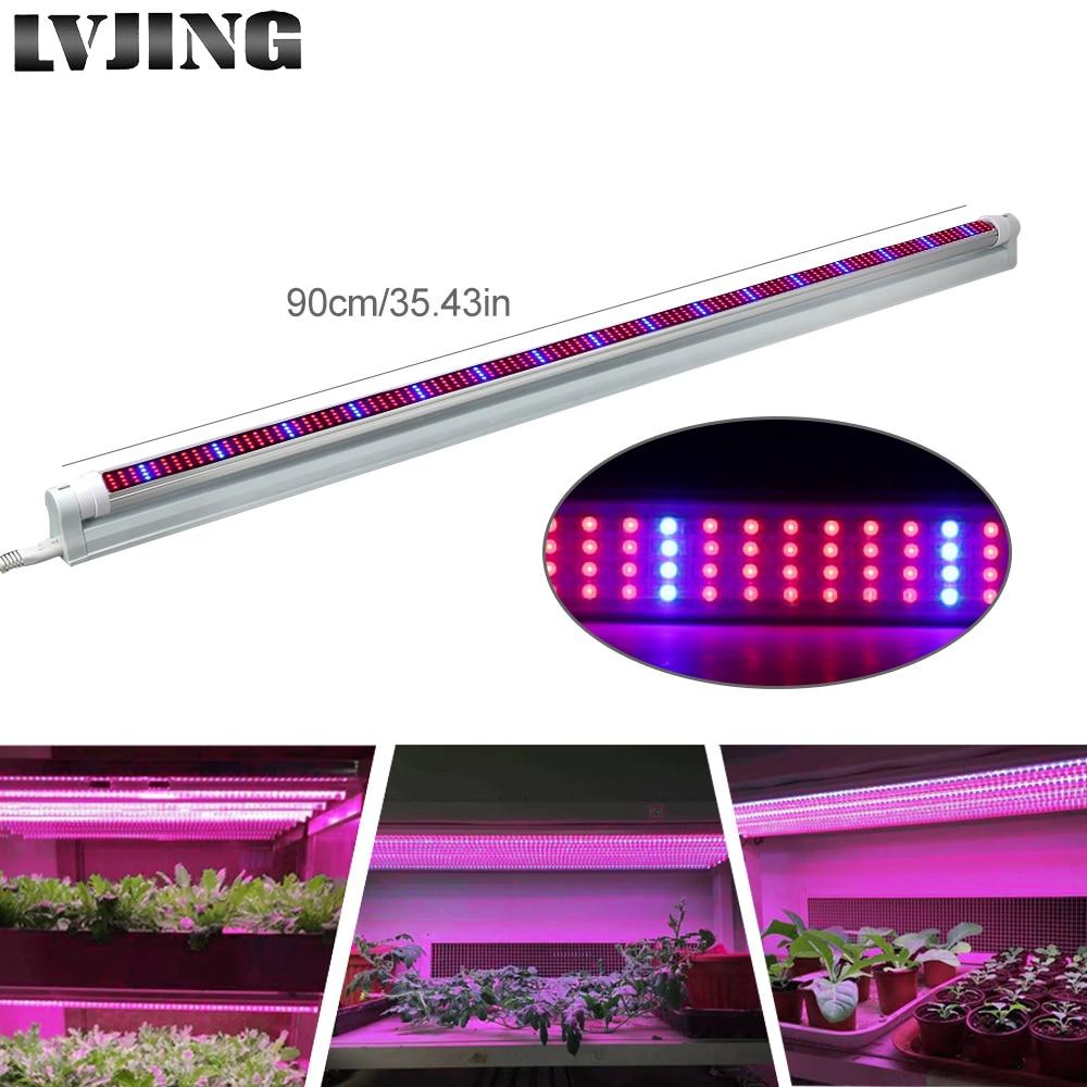 5 pz 0.9 m T8 LED Coltiva La Lampada Del Tubo 448 Led Full Spectrum Rosso/Blu Luce La Crescita Delle Piante Bar per Vegs Lattuga Crescere Tenda Idroponica