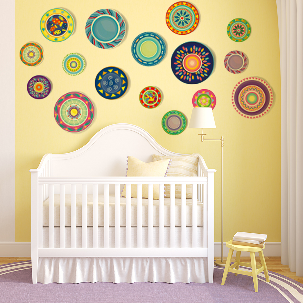 Fine Colorful Wall Decals Pictures - The Wall Art Decorations ...
