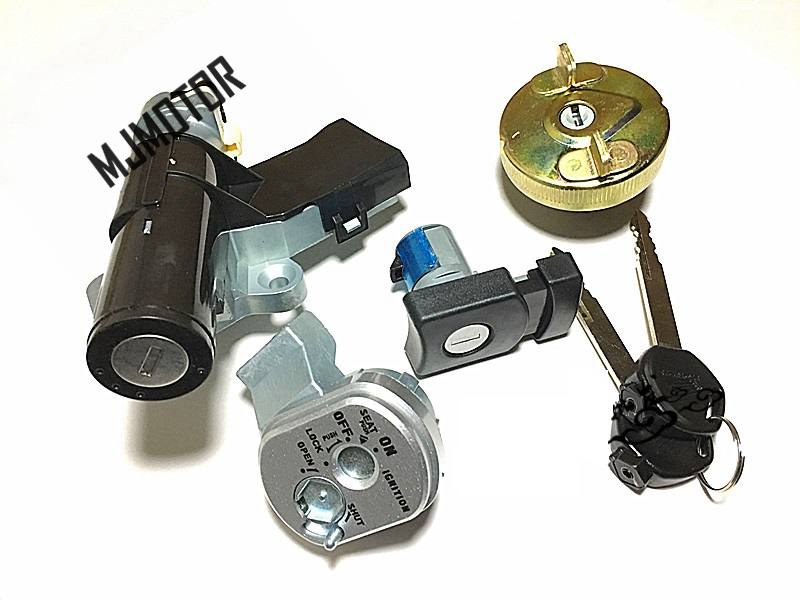 LEAD 110 Lock Ignition Key Switch Set Seat Lock Key For Kymco Chinese Scooter Honda SCR110 Motorcycle Part цены онлайн