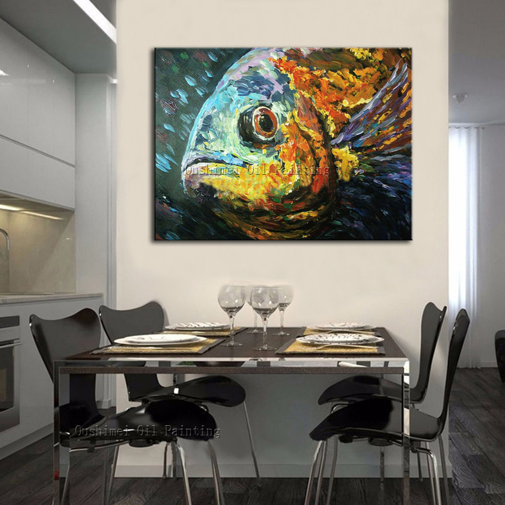 Compare prices on gold fish painting online shopping buy for Cost of a mural