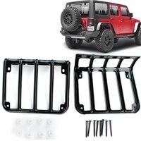 Tail Light Cover Trim Guards Protector For Jeep Wrangler JK JKU Sports Sahara Freedom Rubicon X
