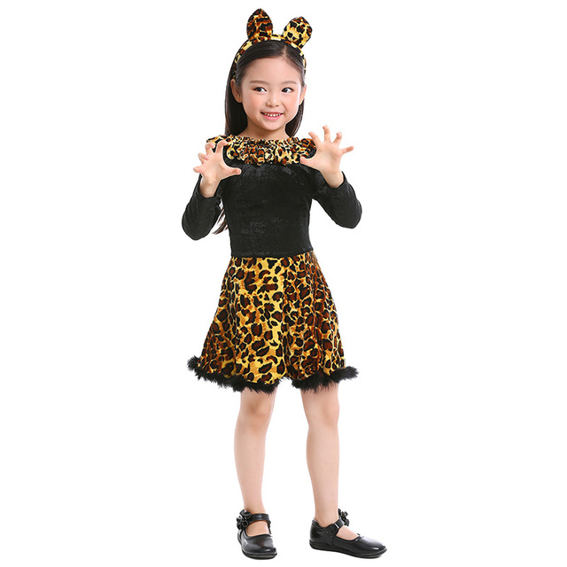 45ef0cc656c US $19.99 |Girl's Toddler Lovely Little Kitty Dress Cat Girl Halloween  Cosplay Costume Child Animal Costume-in Girls Costumes from Novelty &  Special ...