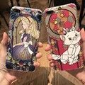Shockproof Soft TPU Phone Cases for Iphone 6 6s 7 Plus Transparent Cartoon Alice in Wonderland snow white Cover