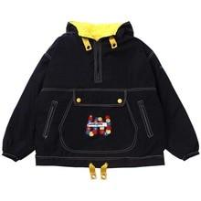 Vintage Jacket Women Velvet Thicker Fleece Hooded Oversize C