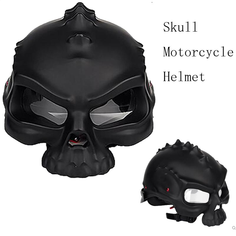 skull design punk personalized harley half face motorcycle helmet automobile special helmet for summer Capacete moto