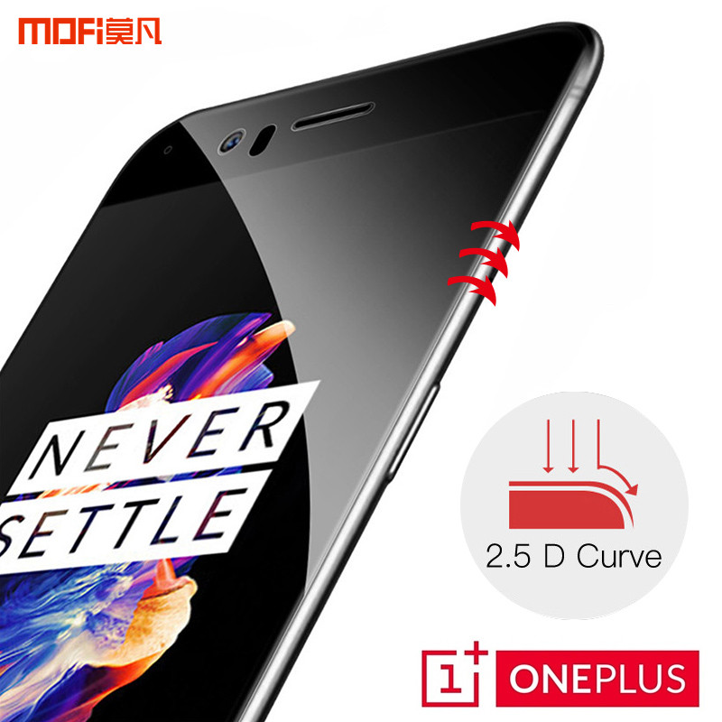 Oneplus 5 glass oneplus 5 tempered screen protector 1 + 5 MOFi original oneplus5 safety film full cover 9H 2.5D black op5 glass