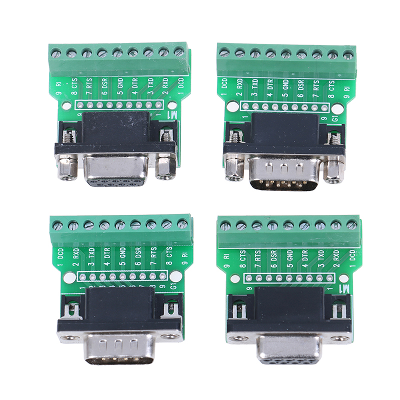 1pc New D-SUB 9pin Solderless Connectors DB9 RS232 Serial To Terminal Adapter Hot Sale