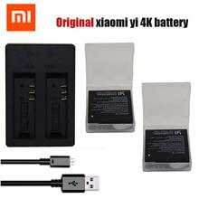 Оригинал xiaomi yi 2 4 k аккумулятор + usb двойной bateria зарядное устройство для xiaoyi 2 4 К xiaomi yi ii 4 К действий камеры аксессуары