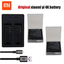Original Xiaomi Yi 2 4K battery pack +USB Dual Bateria Charger For XiaoYi 2 4K Xiaomi Yi II 4K action camera Accessories(China)