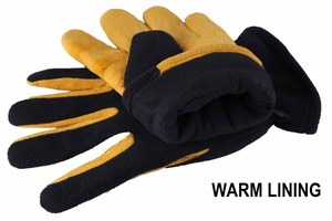 Image 2 - Winter Gloves, OZERO Cold Proof Thermal Glove   Deerskin Suede Leather Palm and Polar Fleece Back with Heatlok Insulated