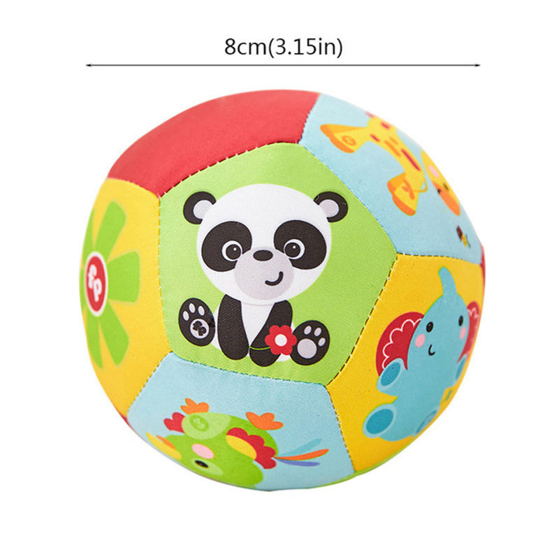 Купить с кэшбэком Baby Toys Stuffed Animal Ball Plush Toys With Sound Baby Rattles Infant Babies Body Building Ball Educational Toys For Children
