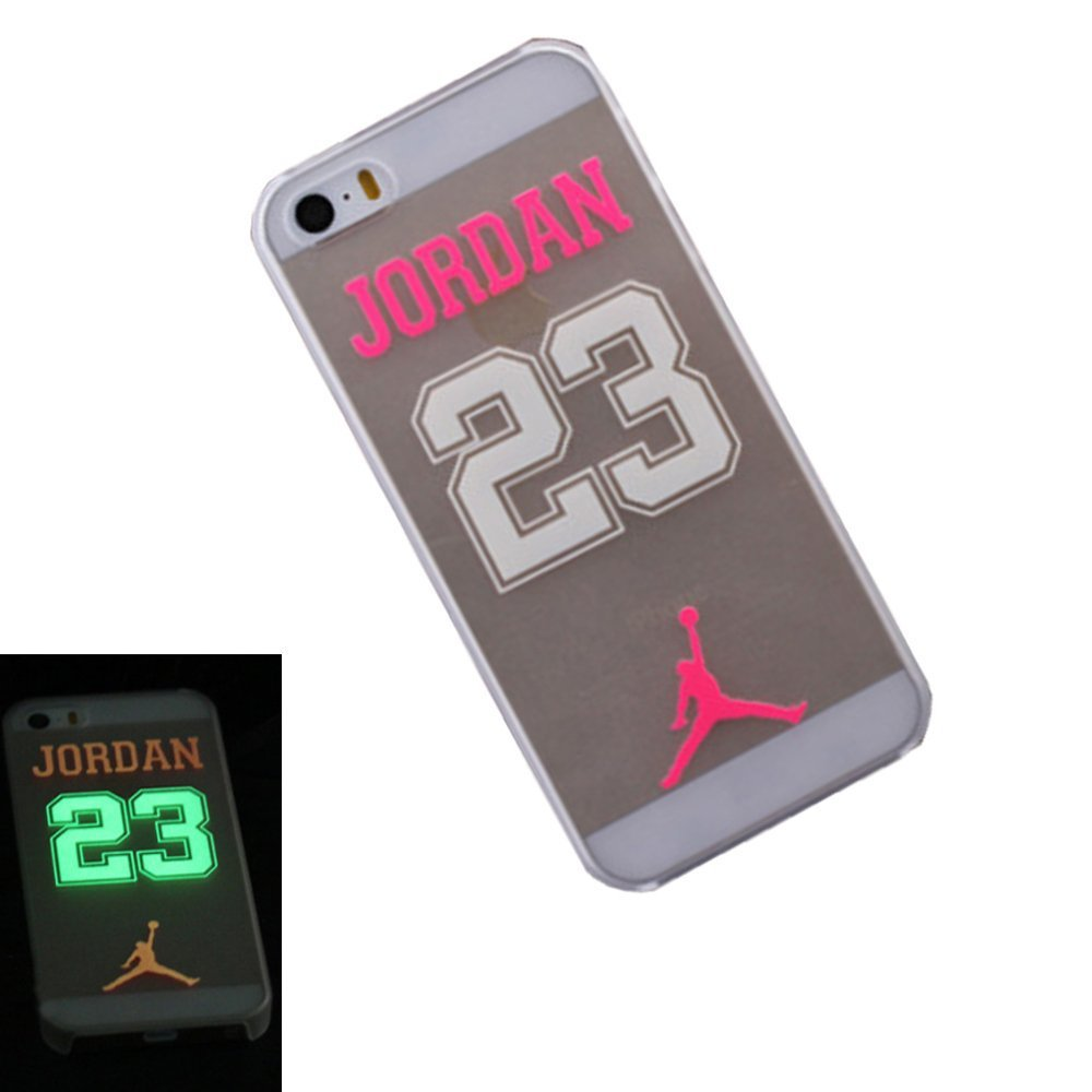 new style 6db9b 86b94 US $3.28 |Luminous Number 23 Michael Jordan Phone Case For Apple iPhone 5  5S 5G Ultra Thin Transparent Jordan Back Cover Coque Capa Funda on ...