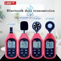 UNI-T UT333BT UT353BT UT363BT UT383BT цифровой измеритель влажности мини Анемометр light meter LUX цифровой звукомер
