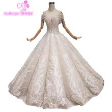 13663cbf8a 2019 Vestido De Noiva frędzle arabii saudyjskiej wdzięku frezowanie suknia  ślubna Sweetheart suknia balowa z aplikacjami fale su.