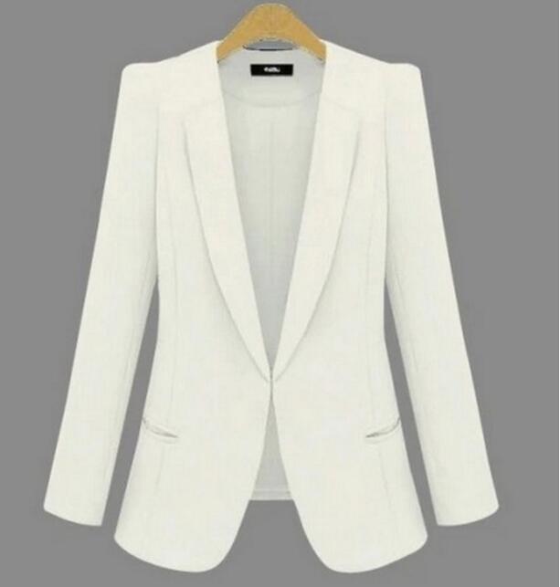 Plus size XS-4XL Blazer women suits outerwear 2017 spring women's blazers white fashion ladies suit black coat female