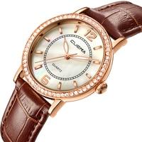 CUENA Top Women S Watches Genuine Leather Women Quartz Watch Relojes Reloj Mujer Montre Femme Relogio