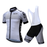 2017 TELEYI Cycling Team Clothes Men S Cycle Bike Short Sleeve Jersey Bib Shorts Sets White