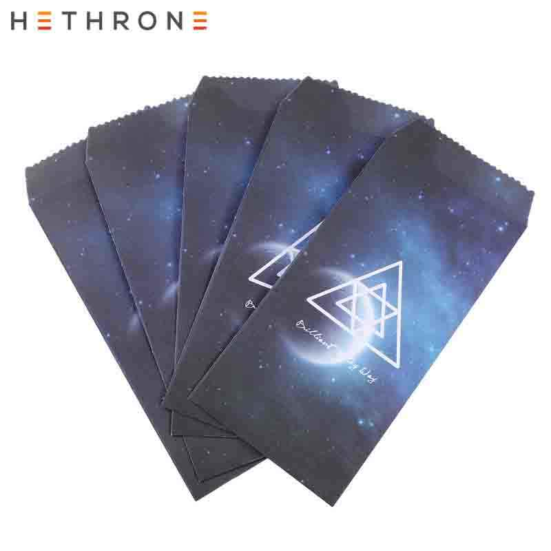 Hethrone 5pcs Fantasy Starry Sky Craft Paper Envelopes Long Ticket Type Envelope Invitation Gift