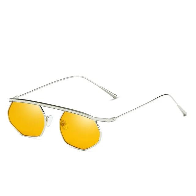 2019 Fashion Small Square Sun Glasses Women Vintage Steampunk Sunglasses Men Ladies Clear Red Blue Lense Mirror Punk Eyewear FML
