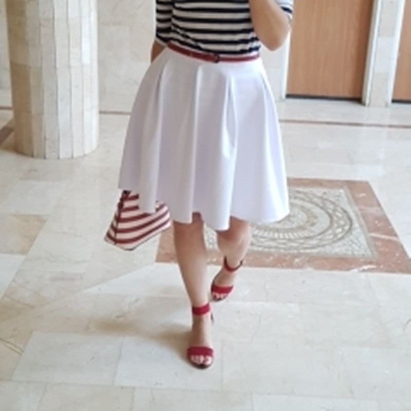 LE CELEBRE Plus Size Short Skirts Women 2019 Winter Autumn A line High Waist Female Korean Skirt Black Red Burgundy