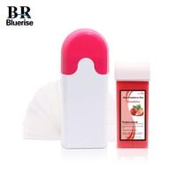 Wax Heater Hair Removal Machine Warmer Depilatory Wax 100g Waxing Strip Paper 100 Handheld Roll On