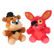 Five Nights at Freddy 25CM 10″ Freddy Foxy Plush Doll Kids Toys for Christmas Gifts