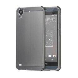 Pour HTC 530 boîtier en métal brossé de luxe doré hybride en métal cadre en aluminium fil de tréfilage couverture arrière pour HTC Desire 530 630 cas