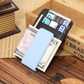 Classical Genuine Leather Black Coffee Soft Dollar Clip Quality Male Money Clips With Credit Card Bits For Men Free Shipping