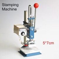 1 Set Manual Hot Foil Stamping Machine Foil Stamper Printer Leather Embossing 220V/110V Press Machine (5x7cm)